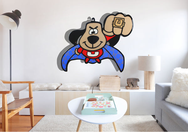 Underdog Cartoon Character Painting x Acrylic Paint on Wood x Home Decor Wall Art