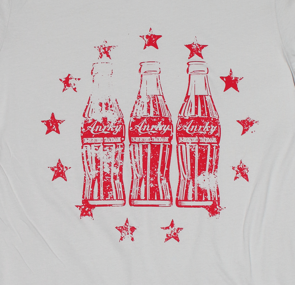 Vintage Cola Bottle Inspired T-shirt ~ Red -  Unisex Graphic T-shirt - Un-Registered Trademark