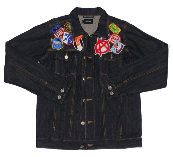 deep blue trucker,denim,jean jacket - diamond supply - street wear fashion