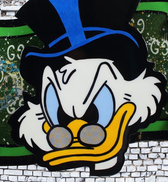 Scrooge McDuck x Cartoon Art Home Decor x Acrylic on Wood Cutout x Epoxy Resin Wall Art