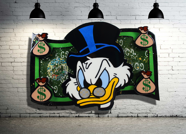 Scrooge McDuck Pop Art x Disney Home Decor Cartoon Art x Acrylic Painting