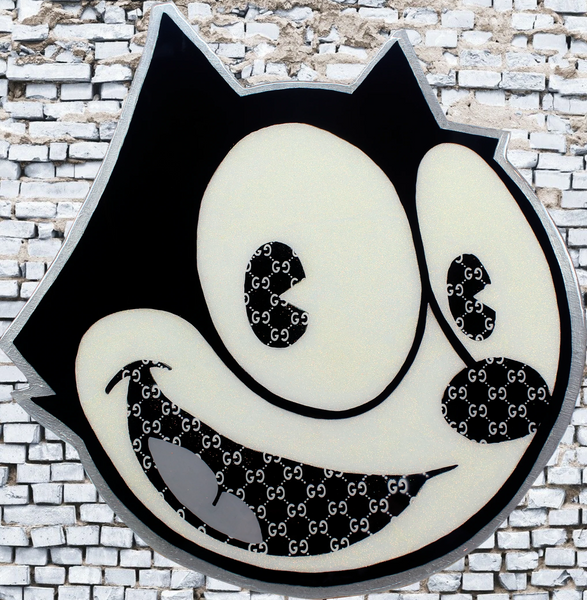 Resin Cartoon Art x Felix The Cat x Acrylic Paint on Wood Cutout x Wall Art Home Decor