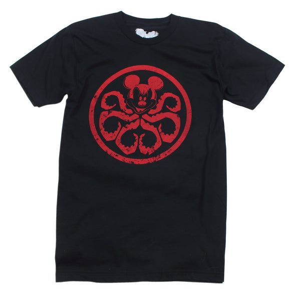 mickey mouse hydra t shirt marvel x Disney mashup black t-shirt