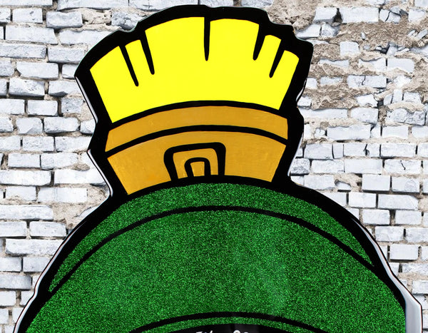 Marvin The Martian Cartoon Art Home Decor x Acrylic Paint on Wood Cutout x Epoxy Resin Wall Art