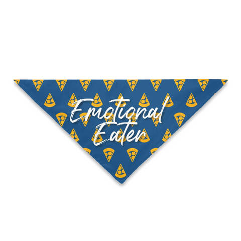 Pet Bandanas- Emotional Eater Pizza Print