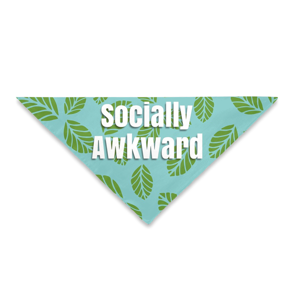 Pet Bandanas- Socially Awkward Leaf Pattern-Sofa City Sweethearts-Sofa City Sweethearts