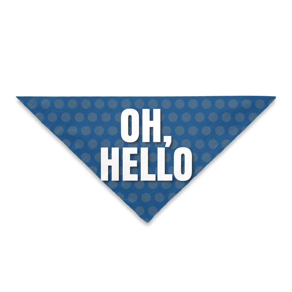 Pet Bandanas- Oh Hello Blue Dot Print-Sofa City Sweethearts-Sofa City Sweethearts