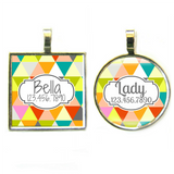 Geometric Triangles Pet ID Tag-Sofa City Sweethearts-Sofa City Sweethearts