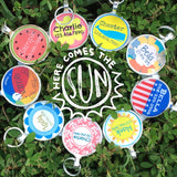 Sunshine Personalized Dog ID Pet Tag Custom Pet Tag You Choose Tag Size-Sofa City Sweethearts-Sofa City Sweethearts