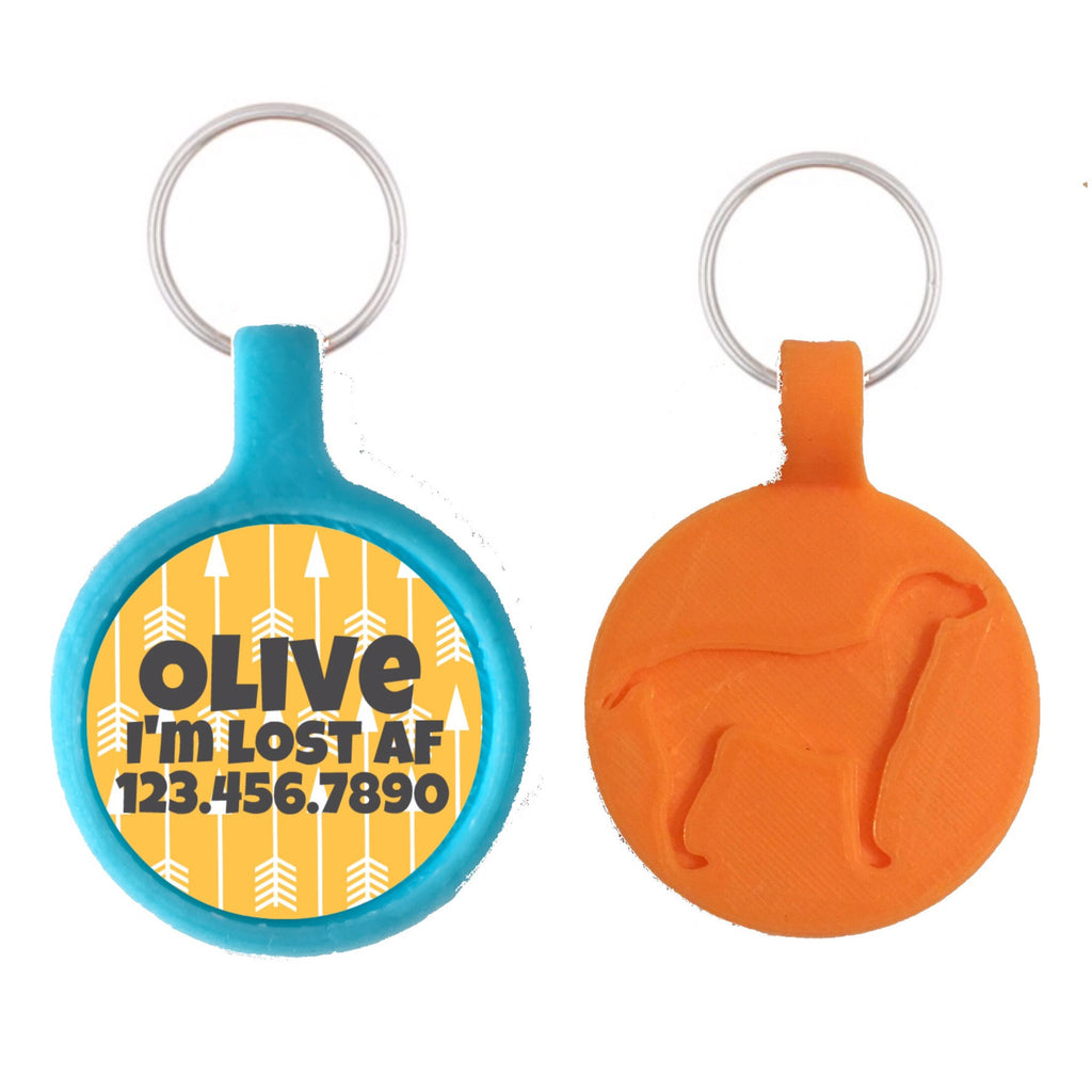 Tribal Arrows Print Ecoplastic Pet ID Tag- Choose from many colors.-Sofa City Sweethearts-Sofa City Sweethearts