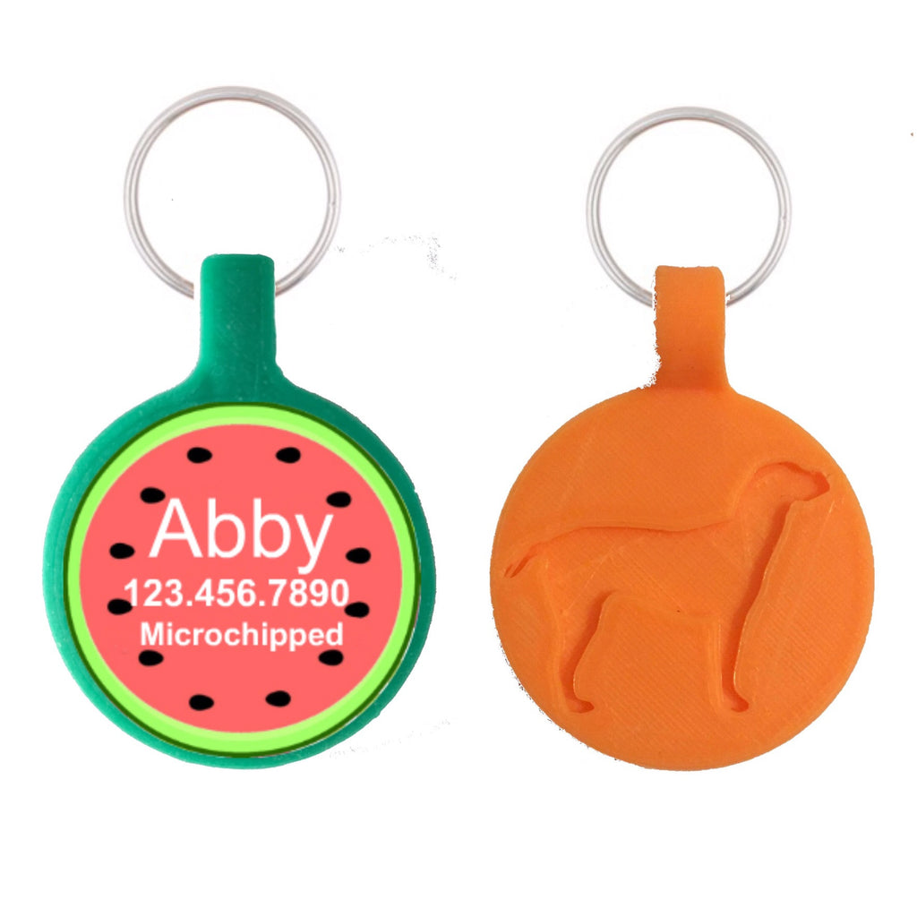 Watermelon Print Ecoplastic Pet ID Tag- Choose from many colors.-Sofa City Sweethearts-Sofa City Sweethearts
