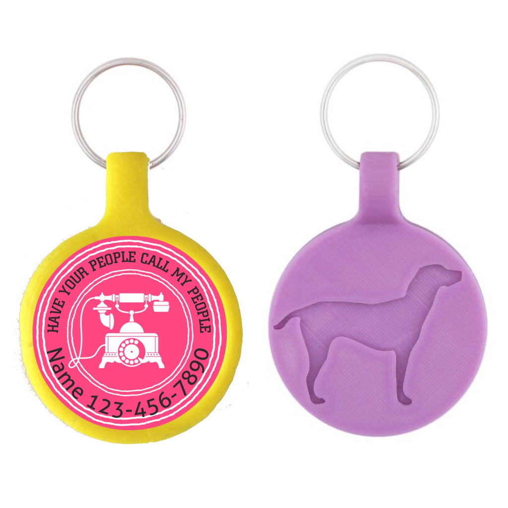 Have your People Call My People Ecoplastic Pet ID Tag- Choose from many colors.-Sofa City Sweethearts-Sofa City Sweethearts