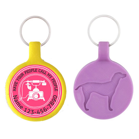 Have your People Call My People Ecoplastic Pet ID Tag- Choose from many colors.