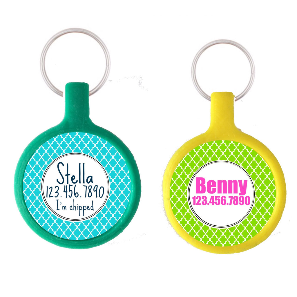 Quatrefoil Ecoplastic Pet ID Tag- Choose from many colors.-Sofa City Sweethearts-Sofa City Sweethearts