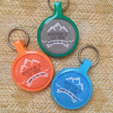 """Adventure is out there"" Ecoplastic Pet ID Tag- Choose from many colors.-Sofa City Sweethearts-Sofa City Sweethearts"