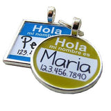 Hola Spanish Hello Name Tag- Custom Graphic Pet ID Tag-Sofa City Sweethearts-Sofa City Sweethearts