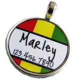 Rasta Stripes ID Tag-Sofa City Sweethearts-Sofa City Sweethearts