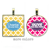 Casbah Silver Pet ID Tag-More Colors-Sofa City Sweethearts-Sofa City Sweethearts