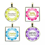 Craft Flower Custom Pet ID Tag-More Colors-Sofa City Sweethearts-Sofa City Sweethearts