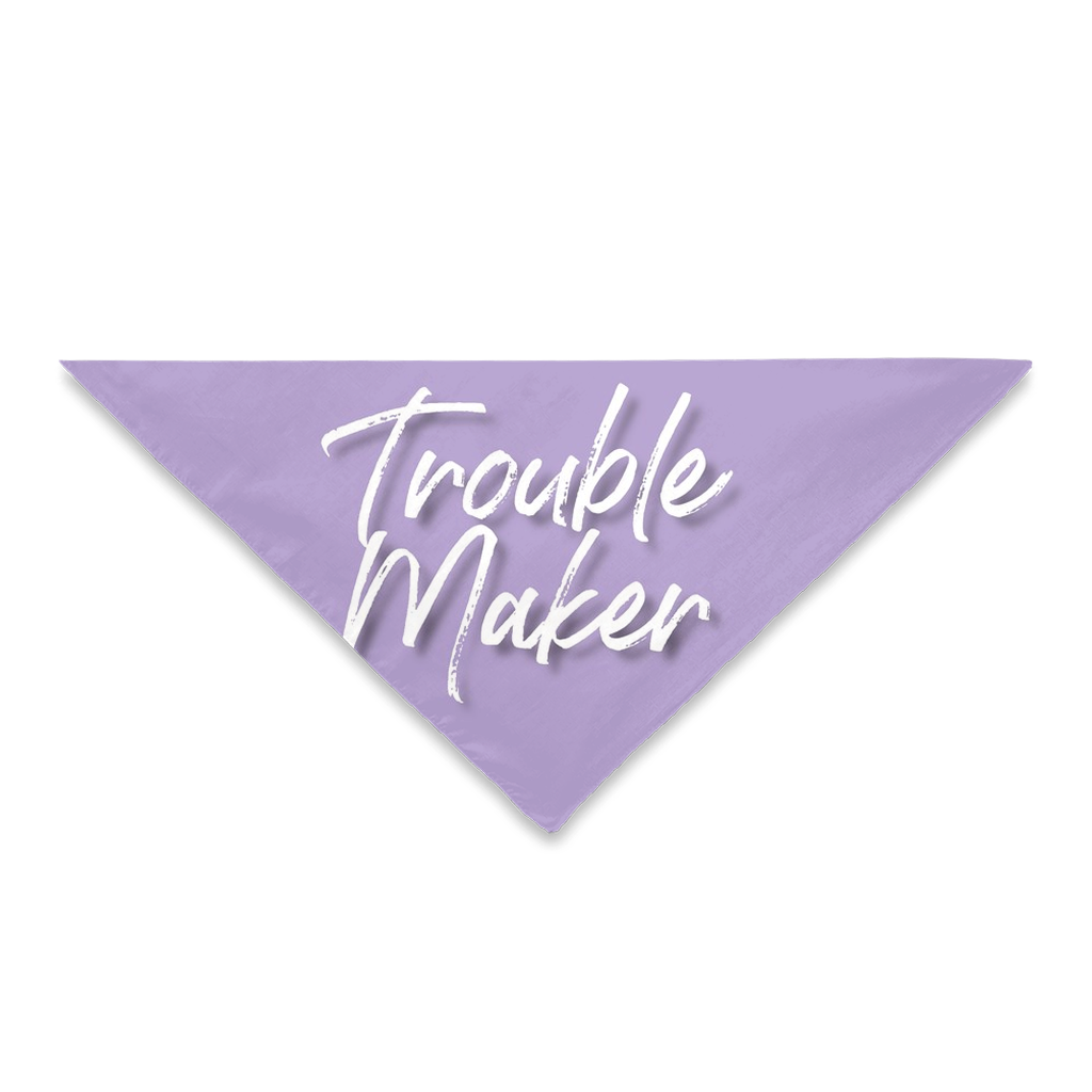 Pet Bandanas- Trouble Maker Lilac-Sofa City Sweethearts-Sofa City Sweethearts