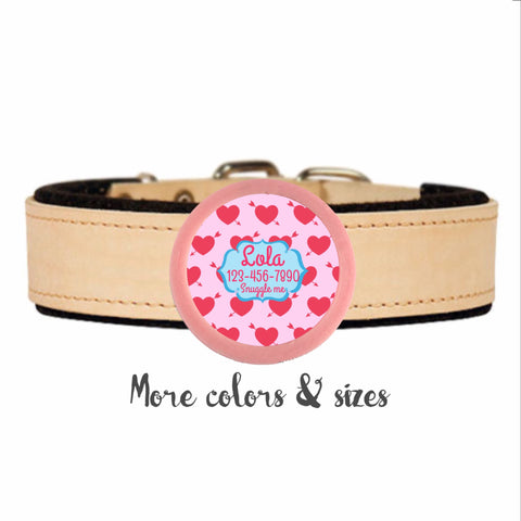 Be My Valentine TWIST TAG- Silent, Eco-Friendly, Ringless ID Tag for Cats and Dogs