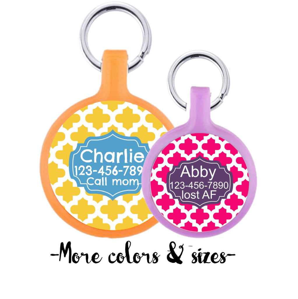 Casbah Personalized Dog ID Pet Tag Custom Pet Tag You Choose Tag Size & Colors-Sofa City Sweethearts-Sofa City Sweethearts