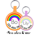 Pastel or Bold Rainbow Personalized Dog ID Pet Tag Custom Pet Tag You Choose Tag Size & Colors-Sofa City Sweethearts-Sofa City Sweethearts