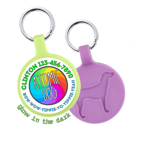 Atomic Dog Funkadelic Personalized Dog ID Pet Tag Custom Pet Tag You Choose Tag Size & Colors