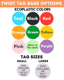 Rainbow TWIST TAG- Silent, Eco-Friendly, Ringless ID Tag for Cats and Dogs-Sofa City Sweethearts-Sofa City Sweethearts