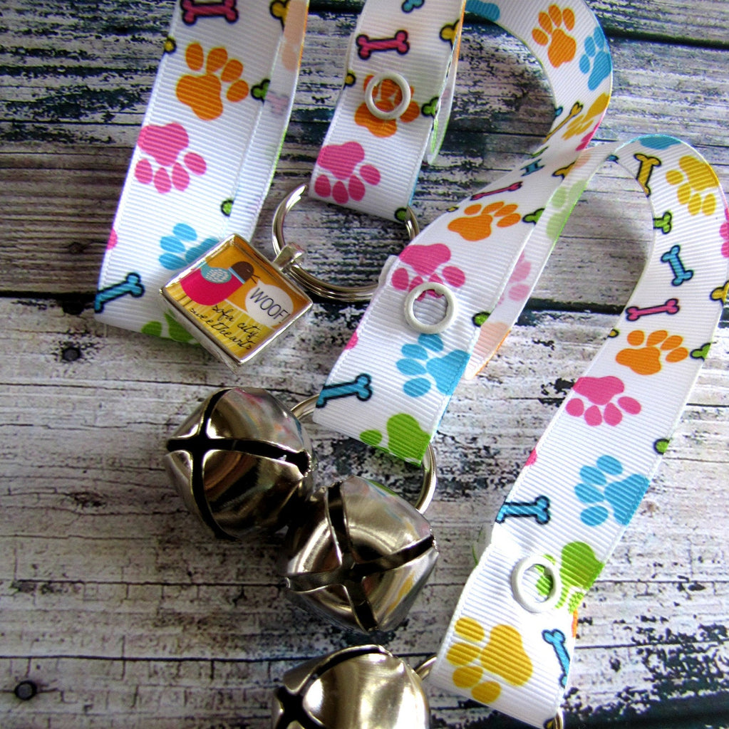Doggy House Training Bells- Paw Print Pattern-Sofa City Sweethearts-Sofa City Sweethearts