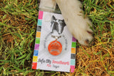 Bright Rainbow Stripes Personalized Dog ID Pet Tag Custom Pet Tag You Choose Tag Size & Colors-Sofa City Sweethearts-Sofa City Sweethearts