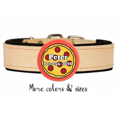 PIZZA LOVE TWIST TAG- SILENT, ECO-FRIENDLY, RINGLESS ID TAG FOR CATS AND DOGS