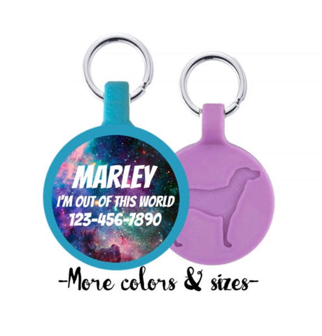 Galaxy Ecoplastic Pet ID Tag- Choose from many colors.