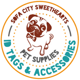 CUSTOM TEXT TWIST TAG- SILENT, ECO-FRIENDLY, RINGLESS Pet ID TAG-Sofa City Sweethearts-Sofa City Sweethearts