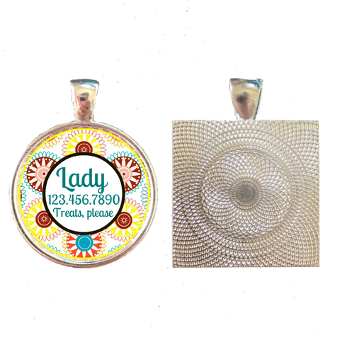 Spirograph Pet ID Tag