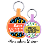 Lightning Bolts Ecoplastic Pet ID Tags- Choose from many designs and colors.-Sofa City Sweethearts-Sofa City Sweethearts