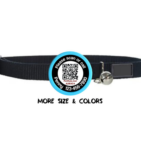Personalized QR Code TWIST Pet Tag-  ID Powered By Pethub