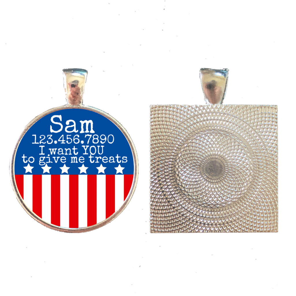 Patriotic Pet ID Tag