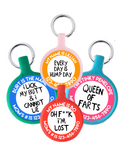 Custom Text Eco-Friendly Pet ID Tag- Choose from many colors.-Sofa City Sweethearts-Sofa City Sweethearts