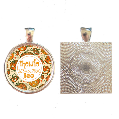 Halloween Spiderweb Pet ID Tag