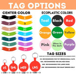 Bold Text Personalized Dog ID Pet Tag- You Choose Size & Colors-Sofa City Sweethearts-Sofa City Sweethearts