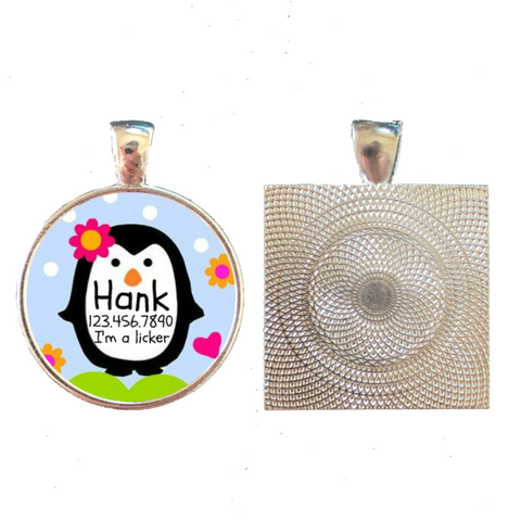 Happy Penguins Pet ID Tag