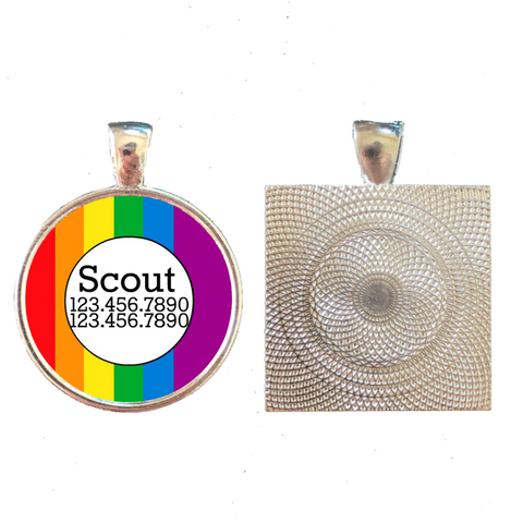 Colors of the Rainbow Pet ID Tag
