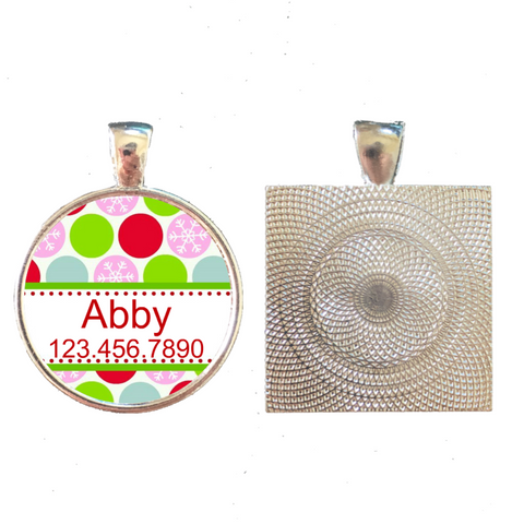 Holiday Dots Pet ID Tag
