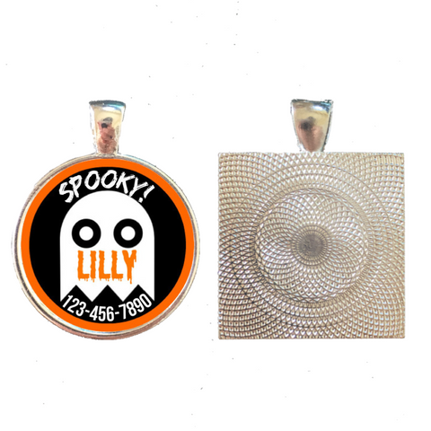 Halloween Ghost Pet ID Tag