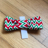 Holiday Chevron Bow Tie-Sofa City Sweethearts-Sofa City Sweethearts