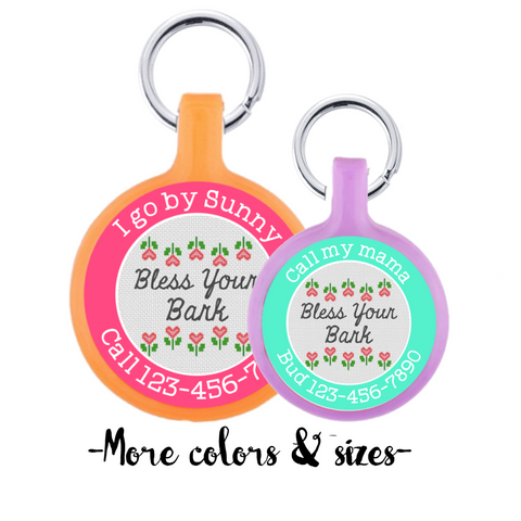 Bless Your Bark Eco-Friendly & Silent Pet ID Tag- Choose your Color