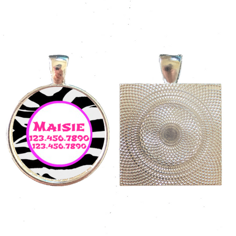 Zebra Stripes Custom Graphic Pet ID Tag