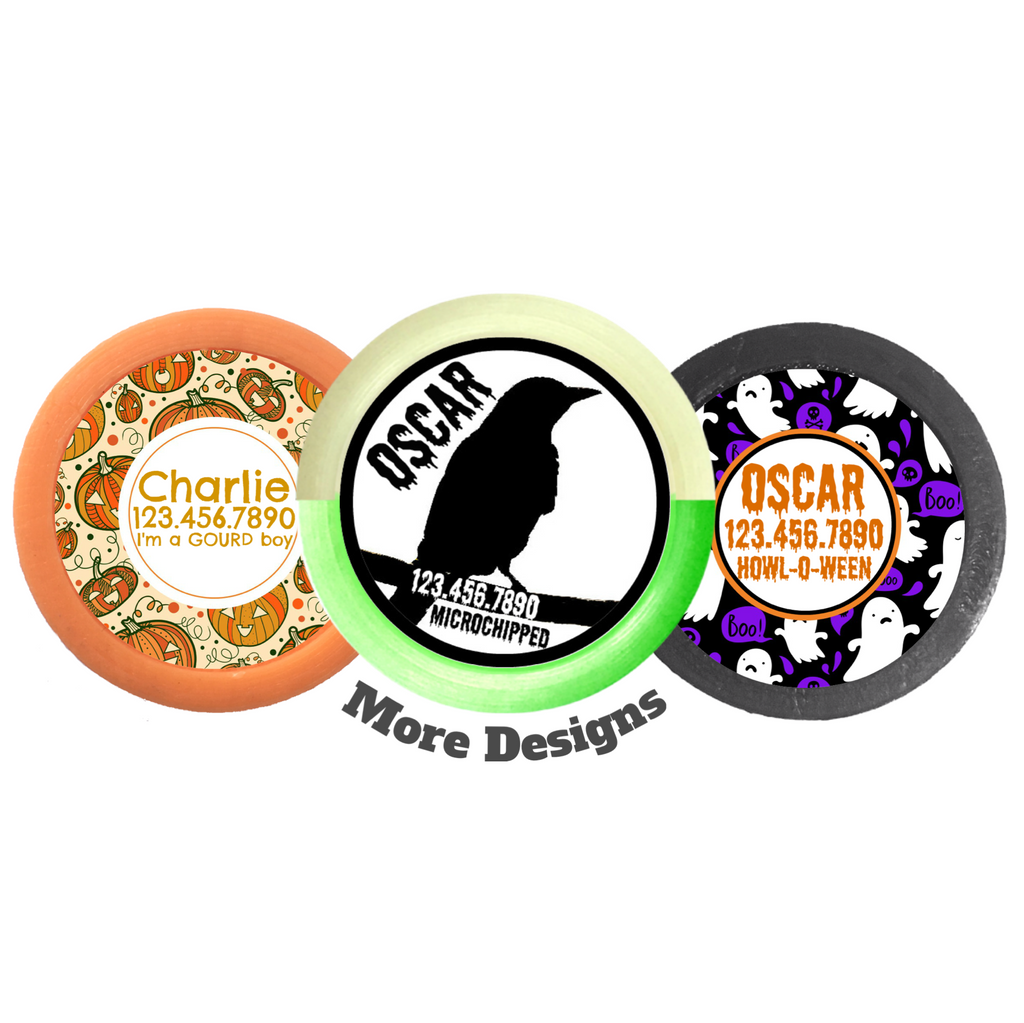 Custom Personalized Pet ID Tag for Dog and Cat Collars HOWLING HALLOWEEN