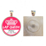 LAP QUEEN Pet ID Tag-Sofa City Sweethearts-Sofa City Sweethearts